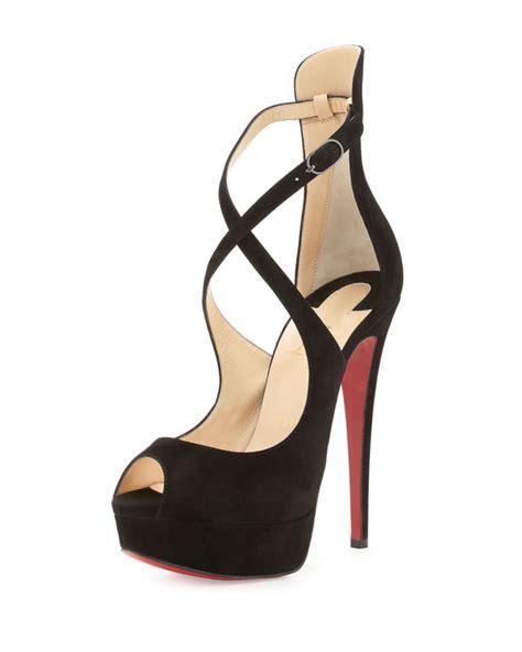 Heels Pesta Maroon Black Suede christian louboutin marlenalta suede 150mm sole black shoes post