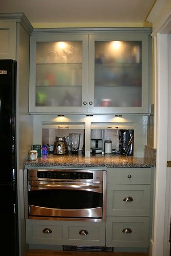 cabinet unit  extra deep appliance garage recessed int