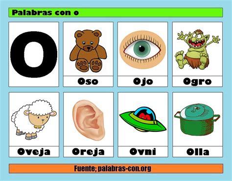 Imagenes Y Palabras Con La Letra O | palabras con la letra o o ejemplos de palabras con o