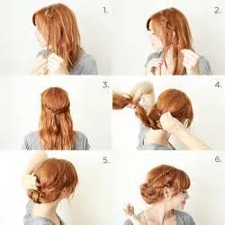 coiffure simple cheveux tresse et chignon en 26 id 233 es