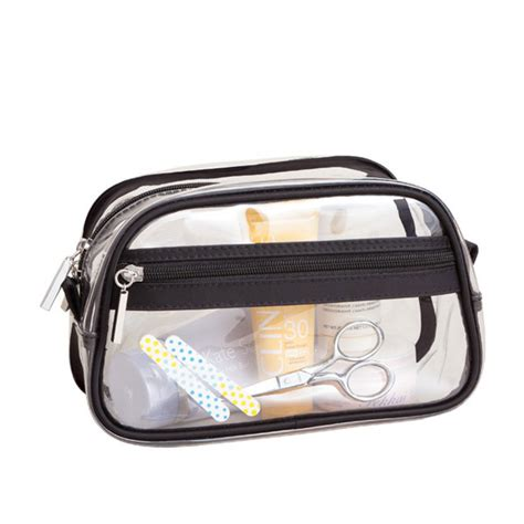 Kimmy Set 3in1 Blue 44 transparent pvc cosmetic bag small cosmetics clutch clb5098 clear pvc bag carre