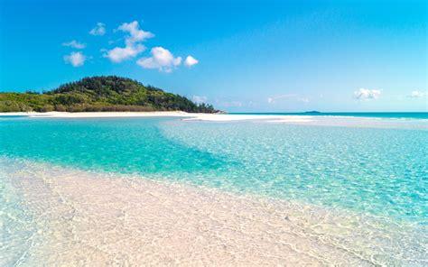 sand beaches fly sail and swim at whitehaven whitsunday island australia world for travel