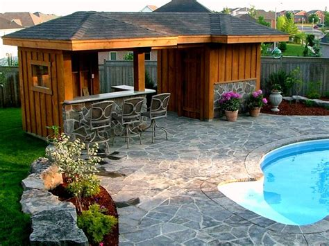 backyard pool bar pool cabana and bar area traditional pool toronto
