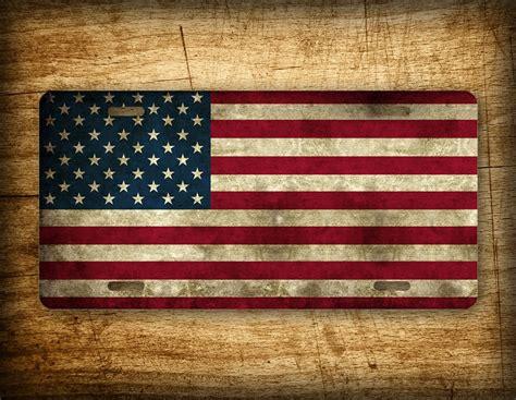 americana usa flag license plate american flag auto tag