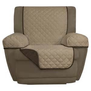 chocolate reversible pet cover microfiber recliner