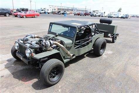 turbo jeep twin turbo jeep rat rod deathtrap at drag weekend west