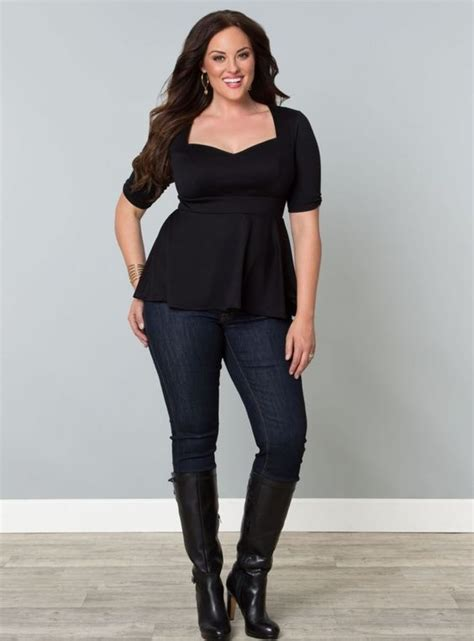 plus size black peplum top be simply stylish in our