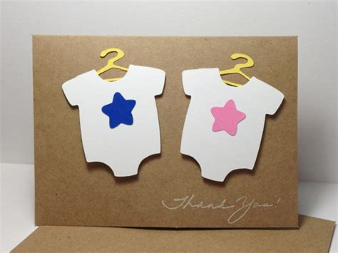 Handmade Baby Shower Thank You Cards - baby shower thank you card set thank you