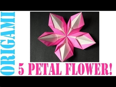 Origami 5 Petal Flower - origami daily 348 modular 5 petal flower tcgames hd