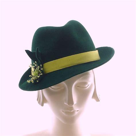 items similar to green fedora hat for porkpie