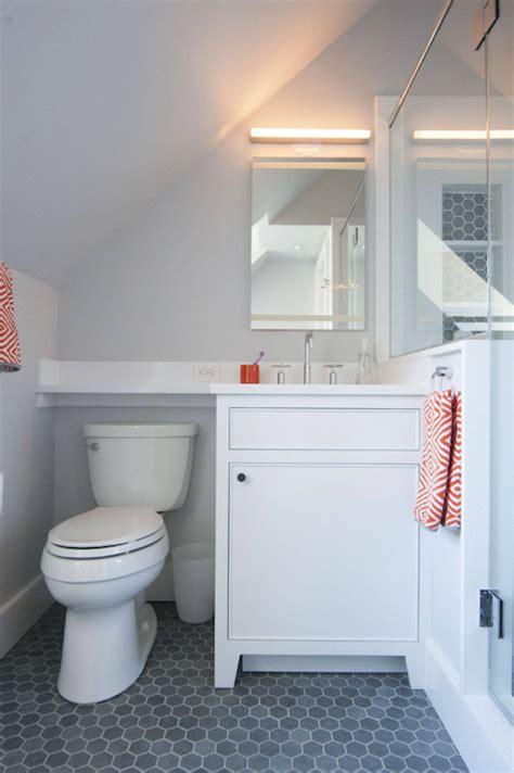 orange and grey bathroom floor tile paint for kitchens wood floors