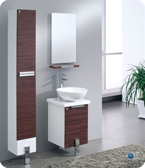 16 bathroom vanity fresca adour 16 quot dark walnut modern bathroom vanity with