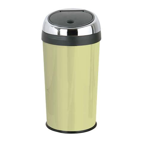 Kitchen Trash Bins 30 litre touch top trash kitchen bin enamel stainless steel inner plastic ebay