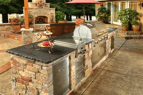 Kitchen Backsplash Ideas Houzz Custom Amp Semi Custom Outdoor Kitchens Galaxy Outdoor