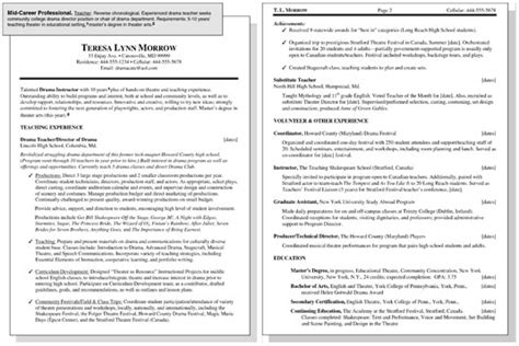 Mid Career Resume sle resume for a mid career professional dummies
