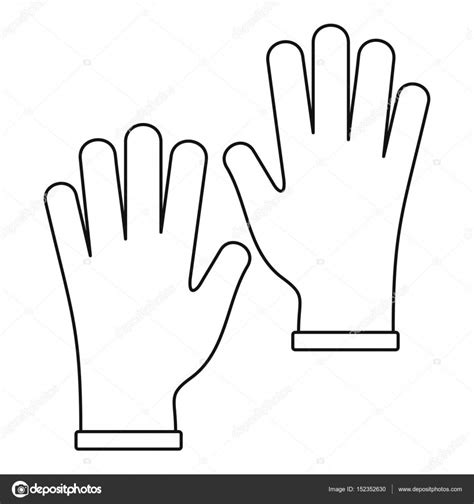 rubber st outline gloves icon outline stock vector 169 ylivdesign