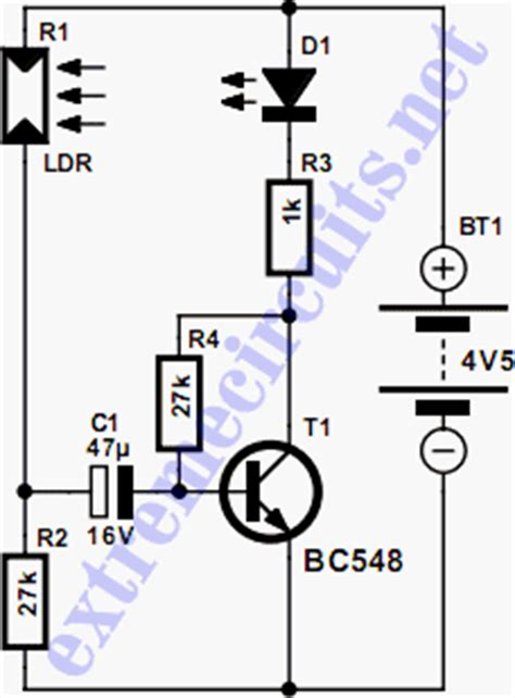bc548 transistor testing led circuits and projects led ldr blinker