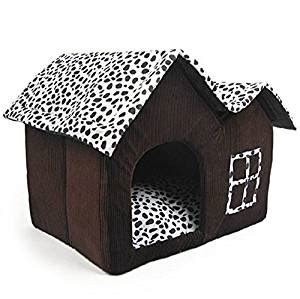 indoor dog house bed cdq luxury high end cow style soft large pet house indoor