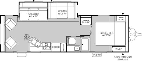 fleetwood terry travel trailer floor plans 2004 fleetwood terry dakota travel trailer rvweb com
