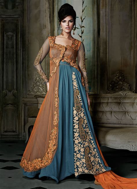 Maxi Style Wedding Dresses by Maxi Dresses And Anarkali Frocks 2018 Beststylo
