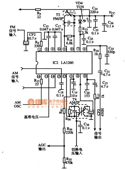 Ic La1260 La 1260 the typical application circuit diagram of la1260 ic basic circuit circuit diagram seekic