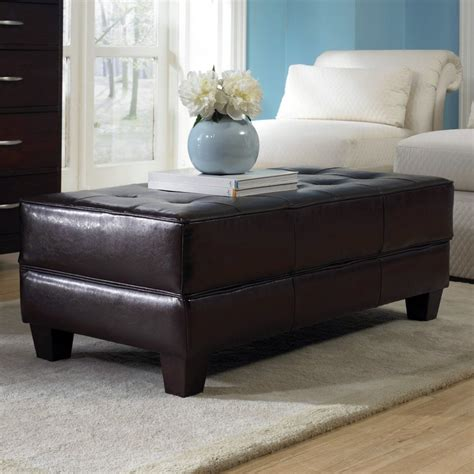 Leather Storage Ottoman Coffee Table Discover And Save Creative Ideas
