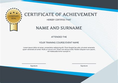 training certificate template with green borders of microsoft word