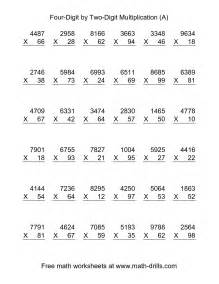 multiplying four digit by two digit 36 per page a
