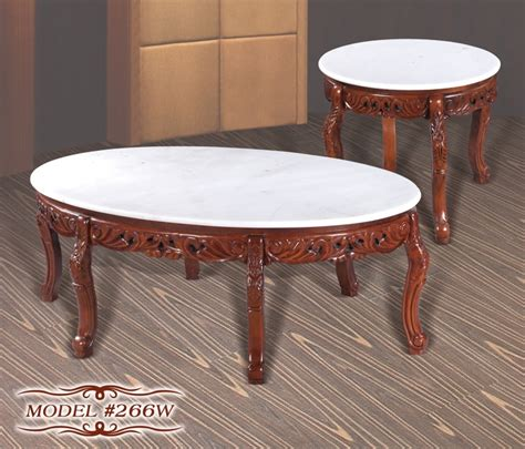 solid cherry wood end tables meridian 266w 2 pc cherry white marble tops solid wood