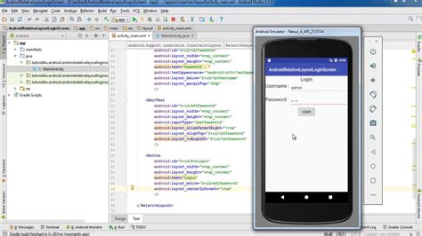 android studio tutorial for beginners youtube android login screen relative layout android studio