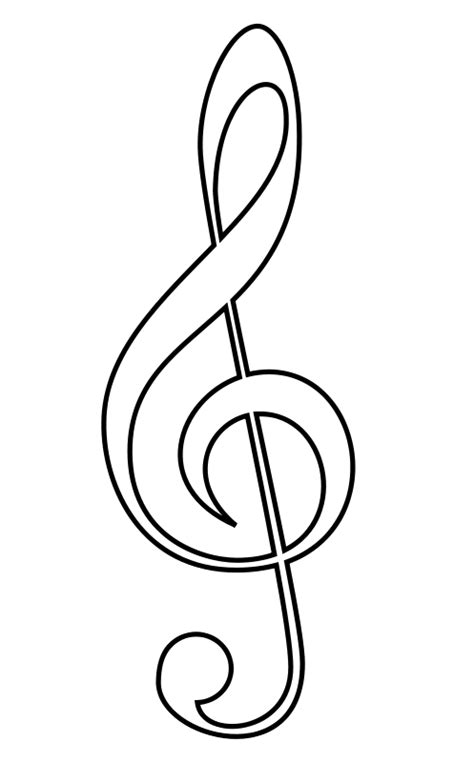 music scale coloring pages drawings of musical notes clipart best