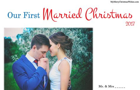 married christmas cards  newlywed couples xmas love