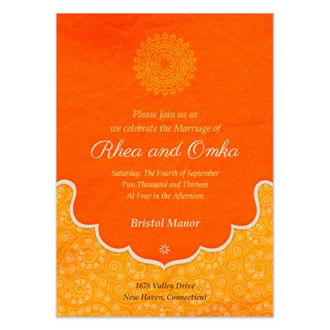 Indian Wedding Blessings Invitations Cards On Pingg Com Indian Wedding Invitation Card Template
