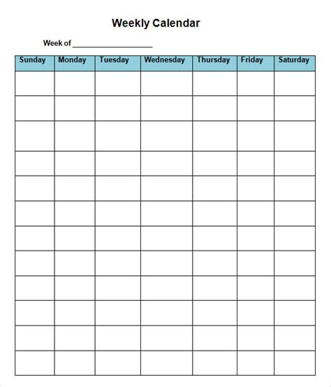 sle weekly calendar 16 documents in word excel pdf