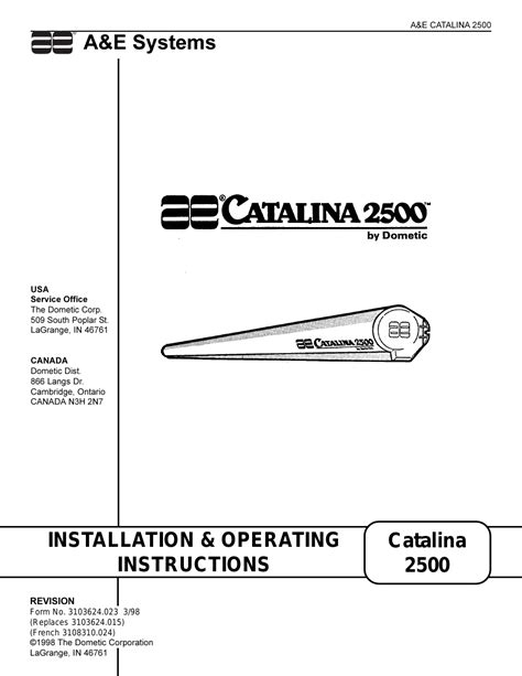 dometic awning replacement instructions dometic 2500 user