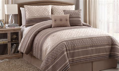 groupon comforter set 6 piece print comforter set available in queen and king