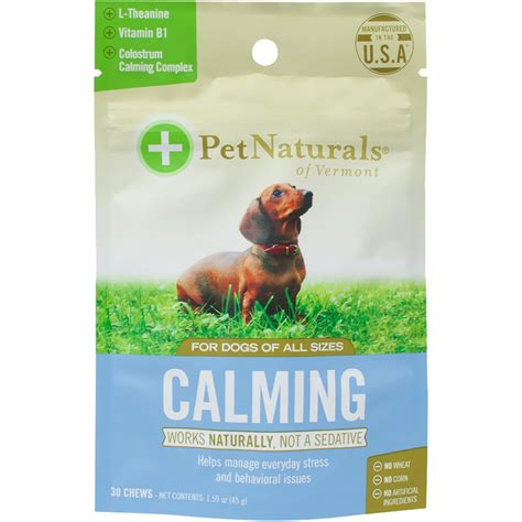 calming chews for dogs pet naturals 174 calming for dogs 30 chews healthypets
