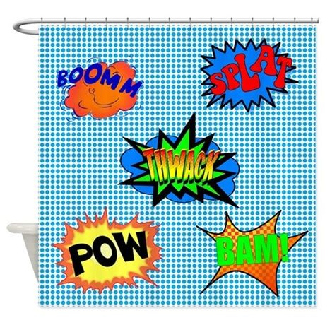 superhero shower curtain pow superhero shower curtain by walela