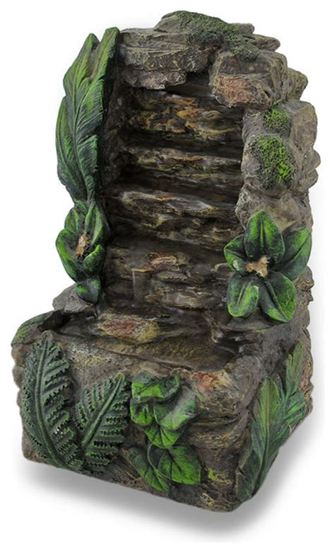 rock waterfall mini battery powered tabletop water