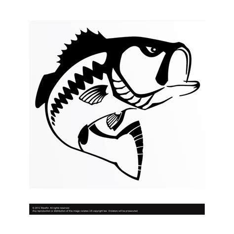 Sticker Water Decal Kode 1597 steelfin largemouth bass decals tackledirect