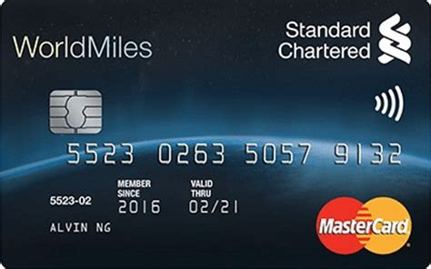standard chartered bank card standard chartered worldmiles world mastercard great