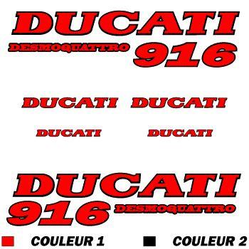 Ducati 916 Sticker by Ducati 916 Desmoquattro Decal Set