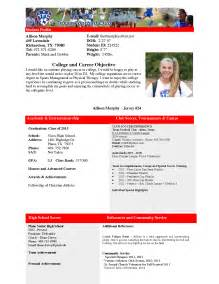 college recruiting profile template best photos of college profile template student athlete