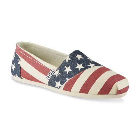 american flag slippers skechers s bobs american flag white blue canvas