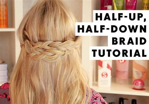 half up half down hairstyles youtube half up half down braid hair tutorial youtube