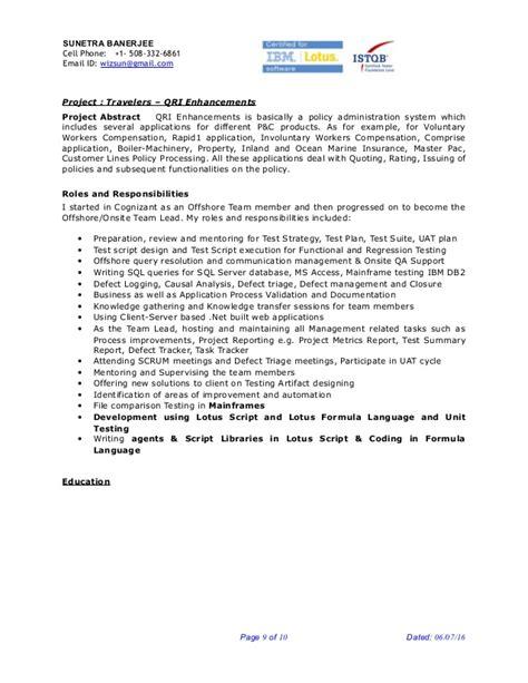 Senior Qa Engineer Sle Resume by Qa Lead Resume 28 Images Abhra Qa Lead Istqb 8y Exp Resume 2016 Lead Generation Resume Sle