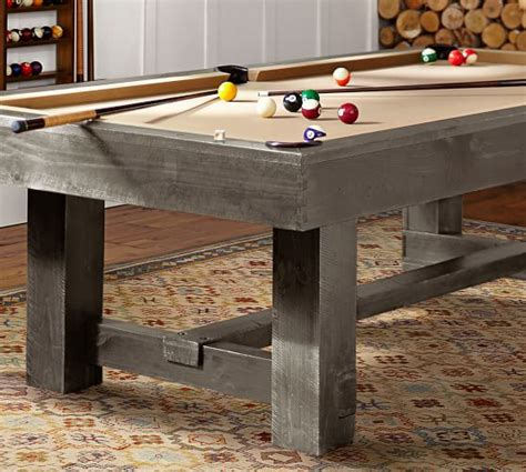 pottery barn pool table pottery barn pool table rustic mahogany pottery barn