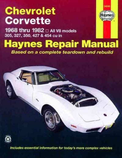 books about how cars work 1968 chevrolet corvette navigation system chevrolet corvette 1968 1982 haynes service repair manual sagin workshop car manuals repair