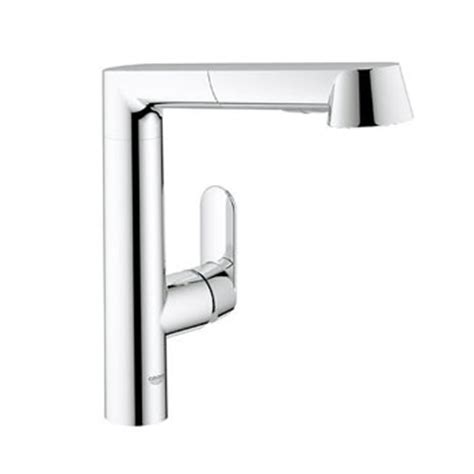 grohe 32 178 000 k7 single handle kitchen faucet with pull