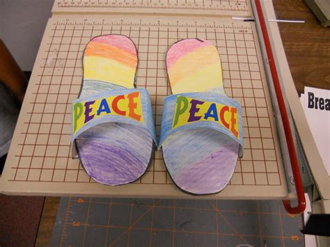 shoes of peace lesson for on bible august 2010
